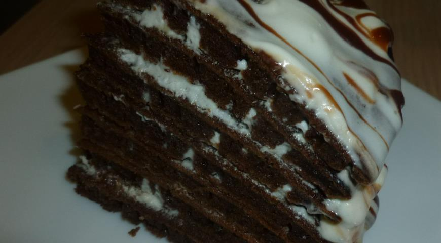 Рецепт Шоколадный торт из блинчиков