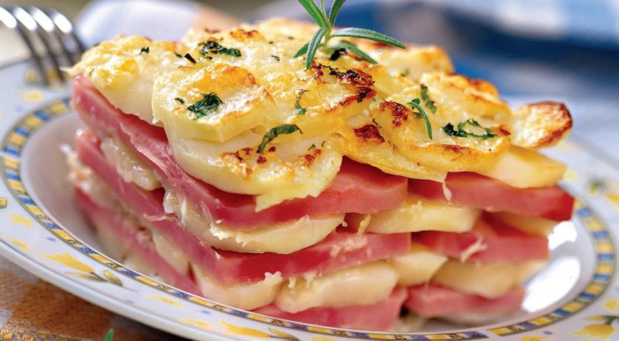 Рецепт Картофельная запеканка с ветчиной