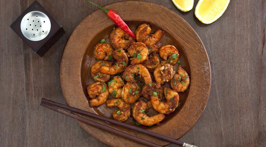 Рецепт Креветки с паприкой и чесноком