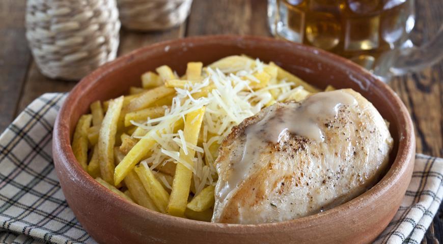 Рецепт Курица с картофелем-фри