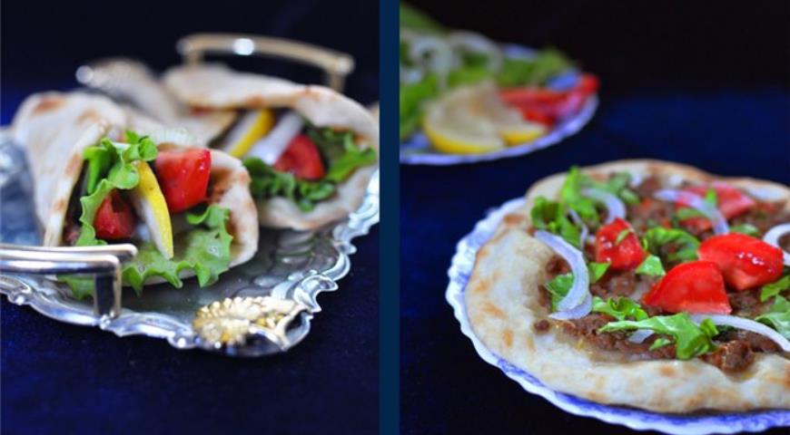 Рецепт Лахмаджун - турецкая пицца