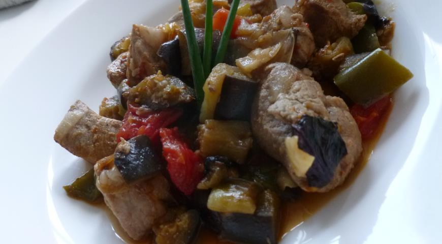 Рецепт Свинина с баклажанами