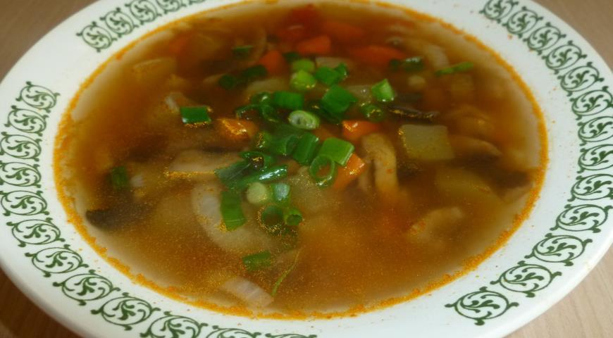 Рецепт Грибной суп с кабачками