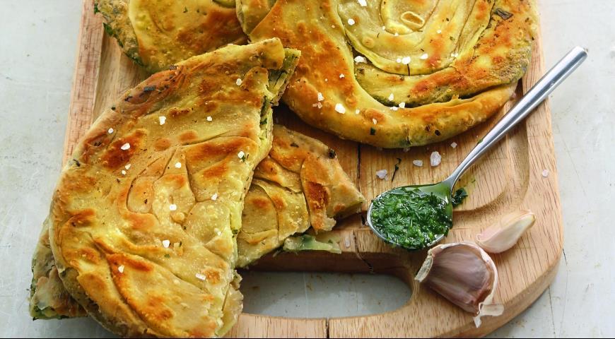 Рецепт Лепешки с зеленым маслом