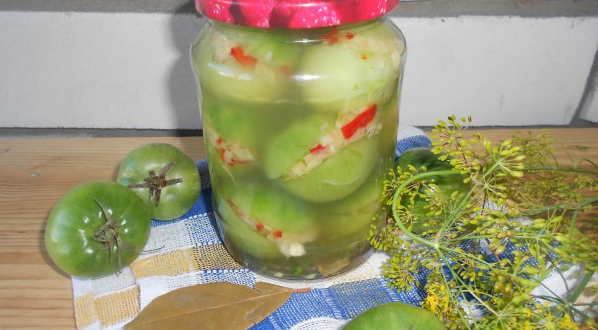 Рецепт Острые зеленые помидоры