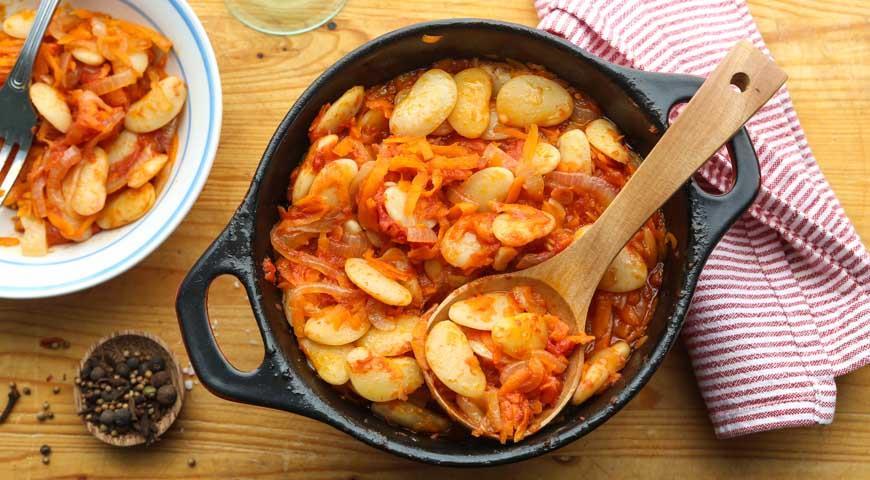 Рецепт Фасоль, запеченная с овощами