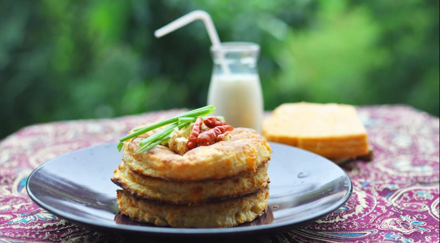 Рецепт Творожно-сырные лепешки