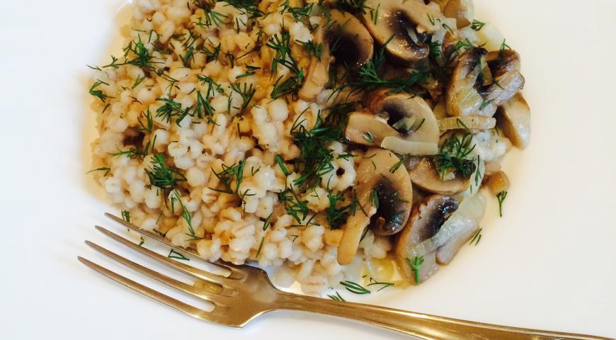 Рецепт Перлотто с грибами