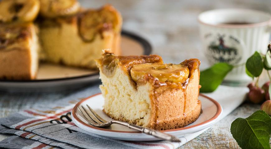 Рецепт Яблочная шарлотка с карамелью