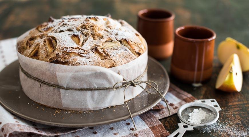 Рецепт Яблочно-грушевая шарлотка