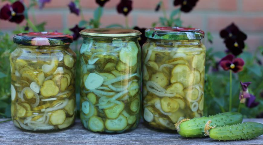Рецепт Салат из огурцов в зиму