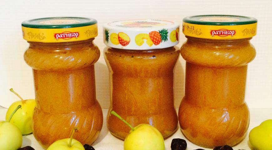 Рецепт Яблочное повидло на отваре шиповника