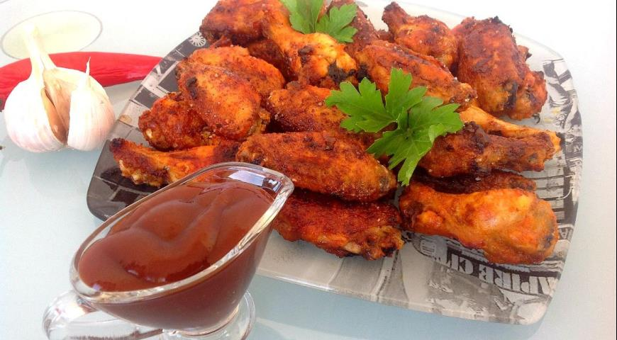 Рецепт Острые куриные крылышки к пиву