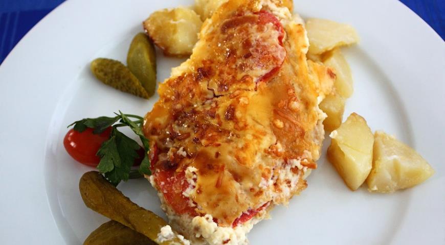 Рецепт Запеченная рыба с картофелем и сыром