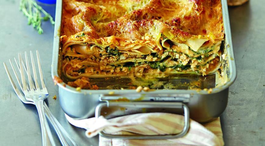 Рецепт Лазанья с соусом из тыквы