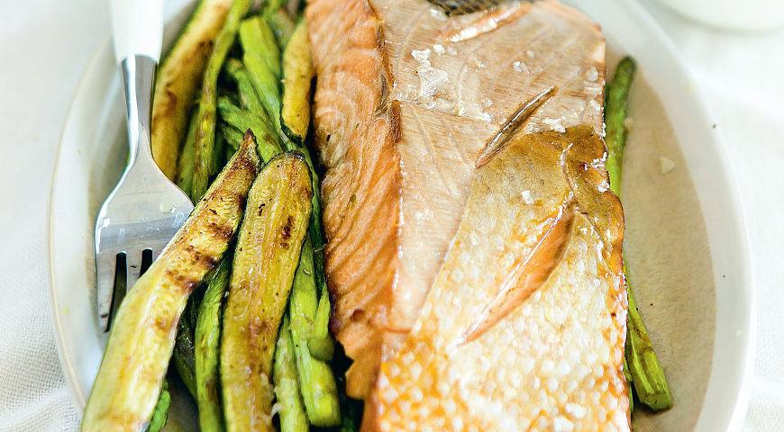 Рецепт Стейк из лосося в маринаде из квасного сусла