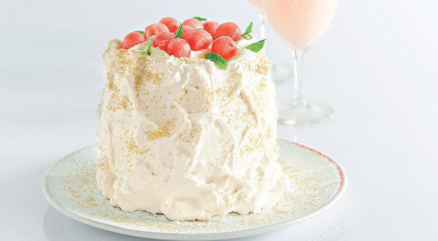 Рецепт Свежий арбузный торт
