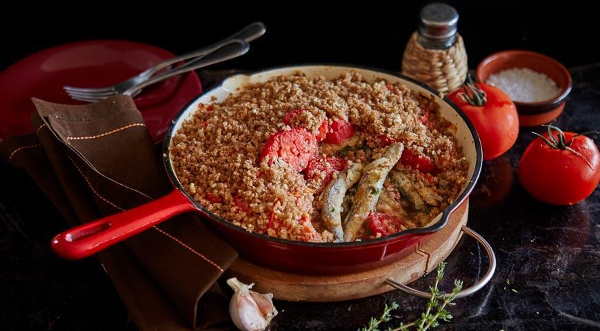 Рецепт Жареная мойва с помидорами