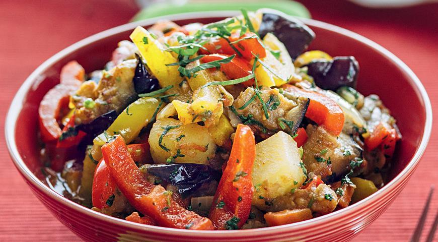 Рецепт Аджапсандали с картошкой