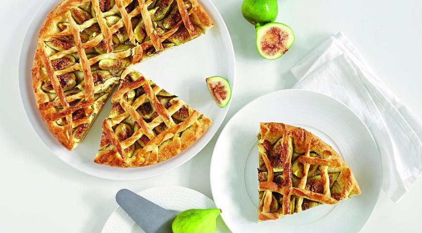 Рецепт Нежный пирог с инжиром