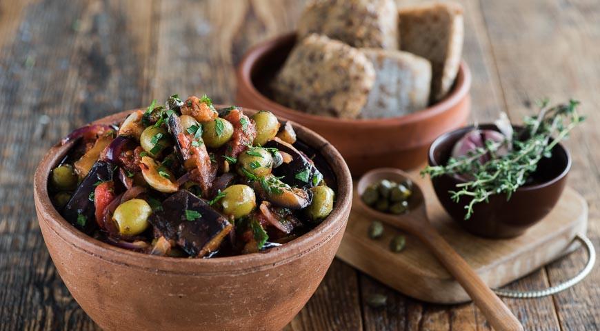 Рецепт Тушеные баклажаны по-сицилийски