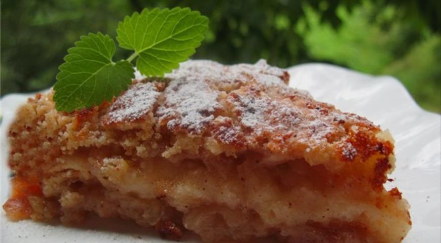 Рецепт Яблочный пирог с корицей насыпной