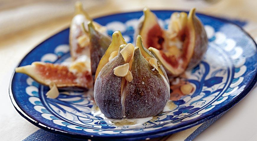Рецепт Свежий инжир, запеченный с медом, на барбекю