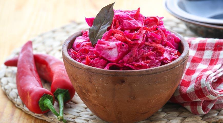 Красная капуста со свеклой маринованная рецепты приготовления