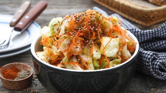 Маринованная капуста по-корейски, пошаговый рецепт с фото