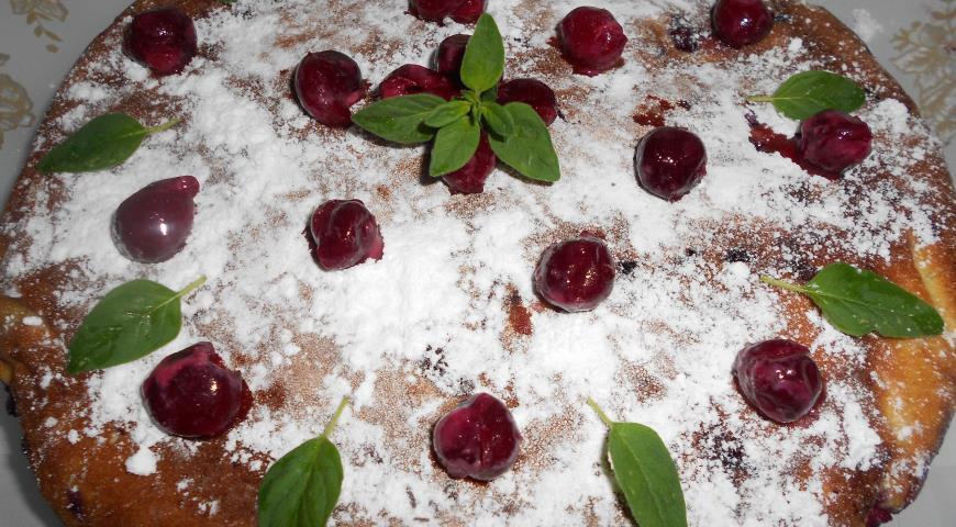 Вишневая шарлотка рецепт с фото
