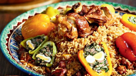 Узбекский долмали палов, пошаговый рецепт с фото