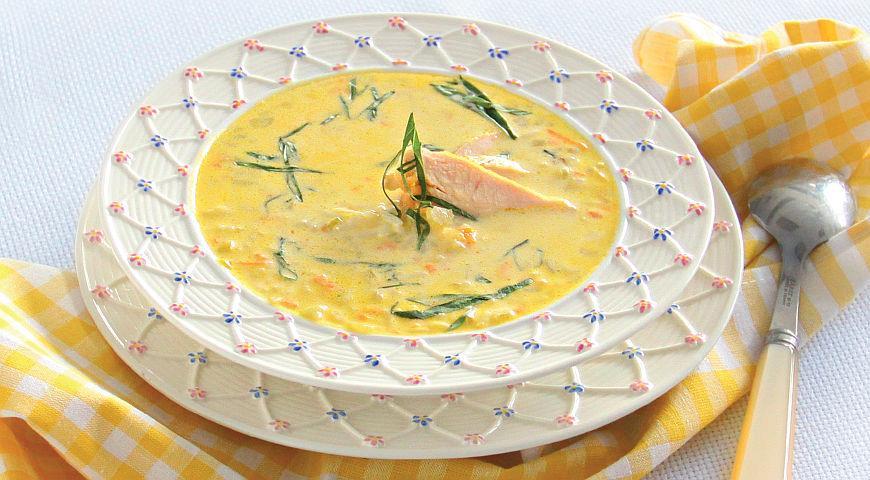 Рецепт Нежный рисовый суп с курицей и базиликом