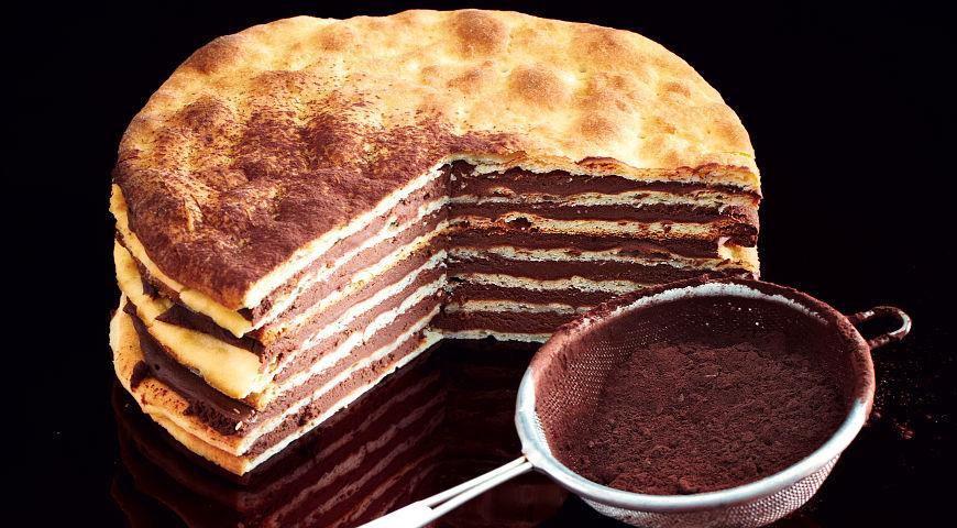 Рецепт Творожный торт с шоколадом