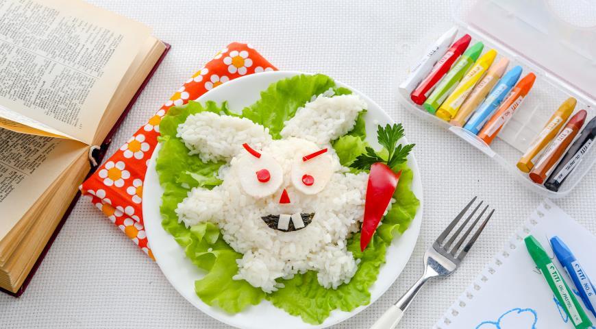 Рецепт Смешарик «Лунный заяц»–онигири