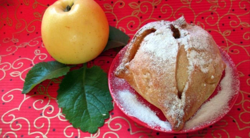 """Рецепт Яблочная шарлотка в творожных """"платочках"""""""