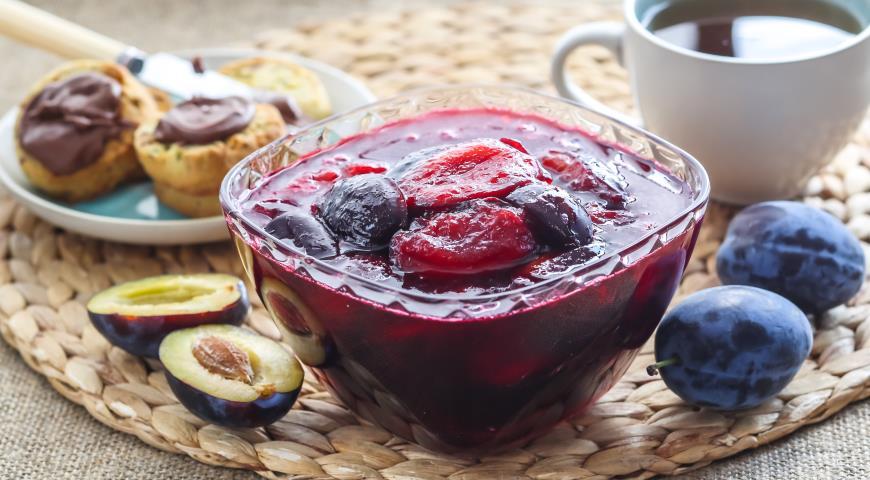 Рецепт Простое варенье из сливы
