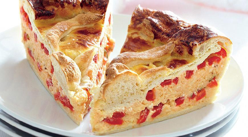 Рецепт Пирог с сыром и перцами