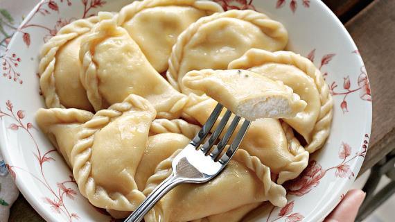 Жареные пирожки из творожного теста, пошаговый рецепт с фото