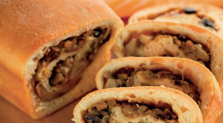 Рецепт Пирог-бриошь с грибами