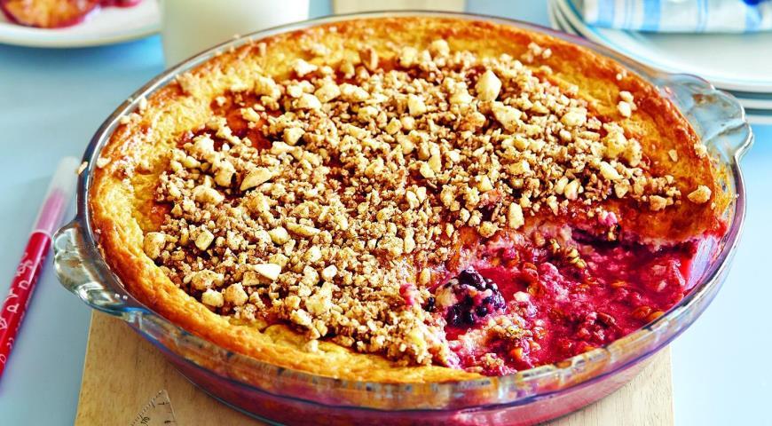 Рецепт Простая запеканка с ягодами