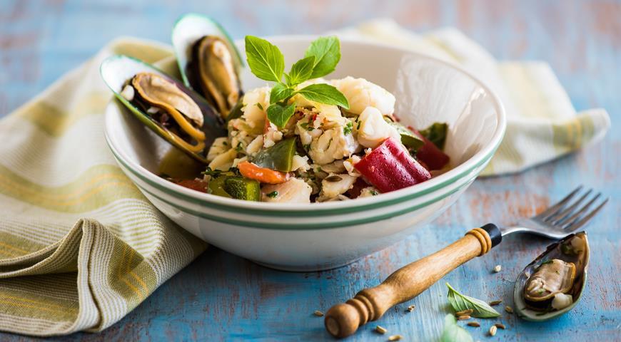 Рецепт Быстрое морское рагу с рыбой