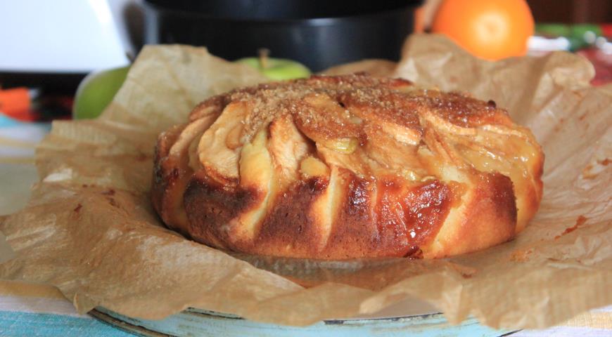Рецепт пирога творожного с яблоками