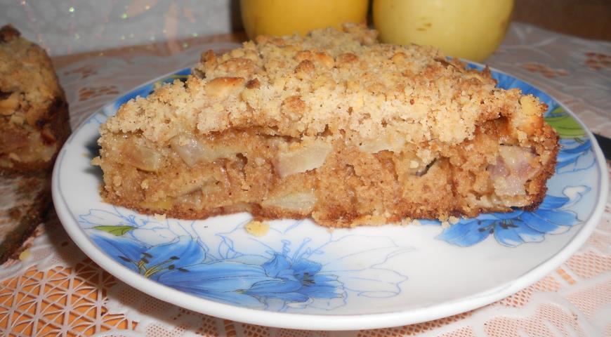 Пирог из песочной крошки