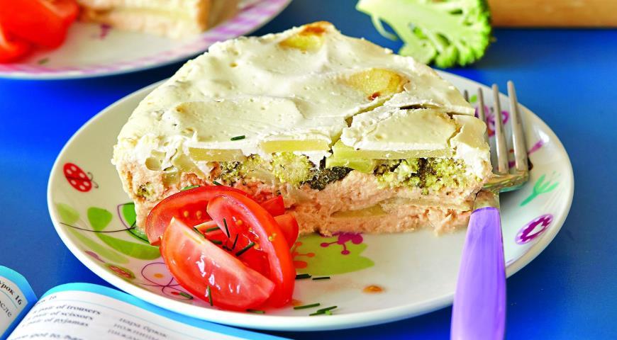 Рецепт Запеканка из лосося с овощами