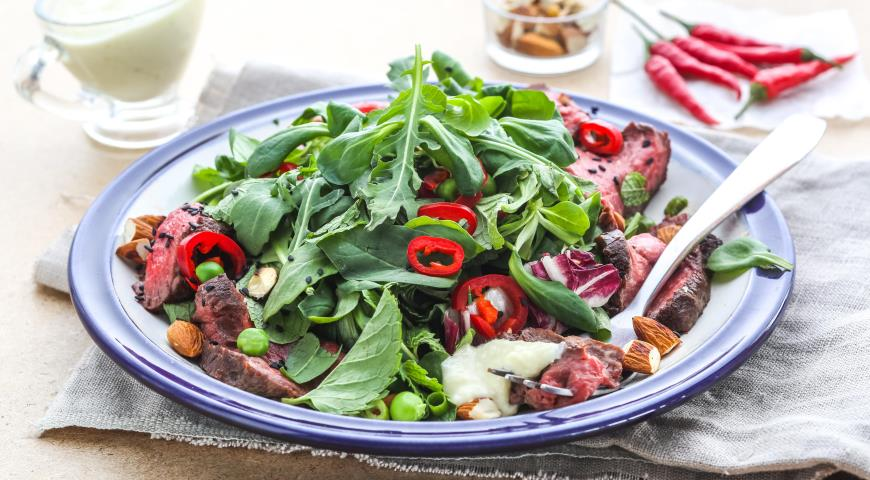 Рецепт Салат со стейком