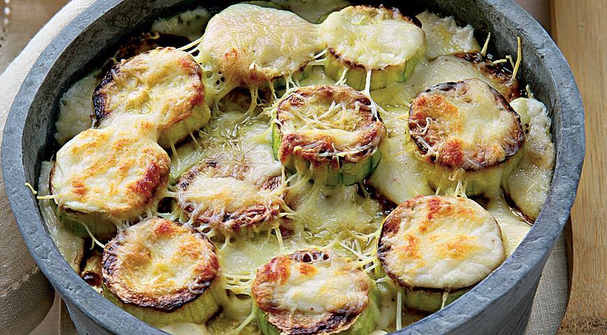 Гратан из кабачков, пошаговый рецепт с фото