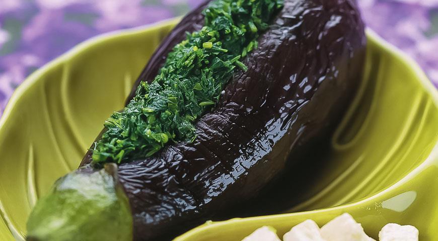 Рецепт Баклажаны, фаршированные зеленью