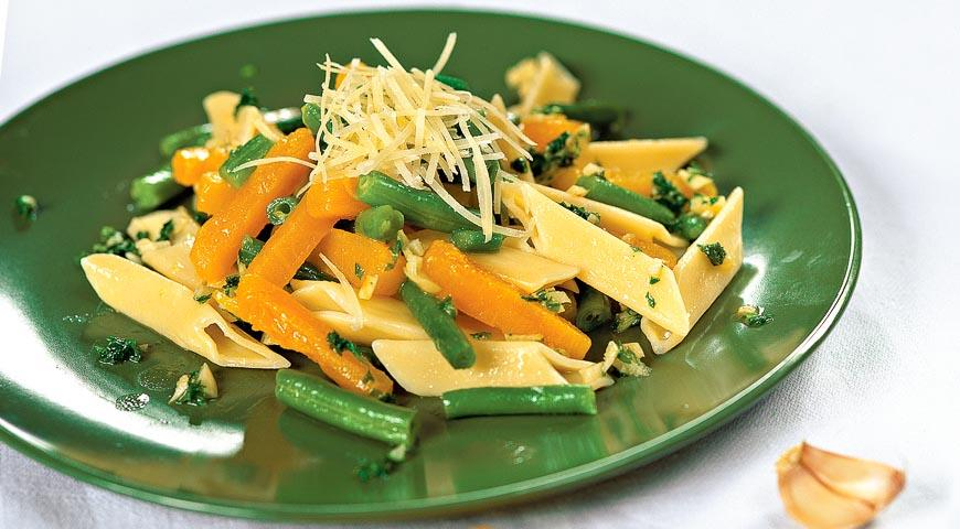 Рецепт Салат из тыквы с макаронами