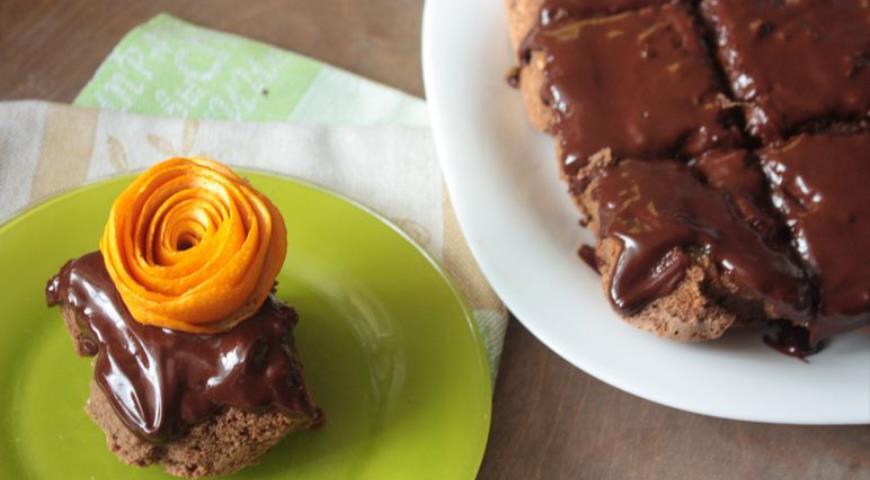 Рецепт Шоколадная шарлотка с апельсинами