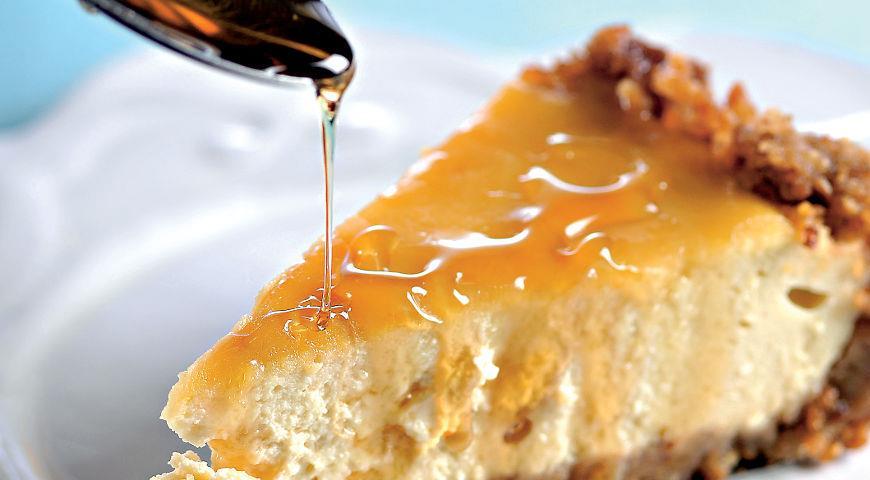 Рецепт Карамельный торт с творогом из топленого молока